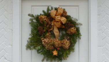 From Drab Winter to Joyous & Festive Front Entry for under $25.00